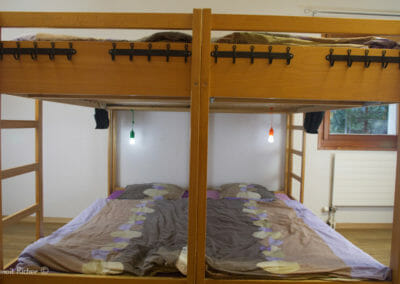 Lits superposés de la chambre Jambo