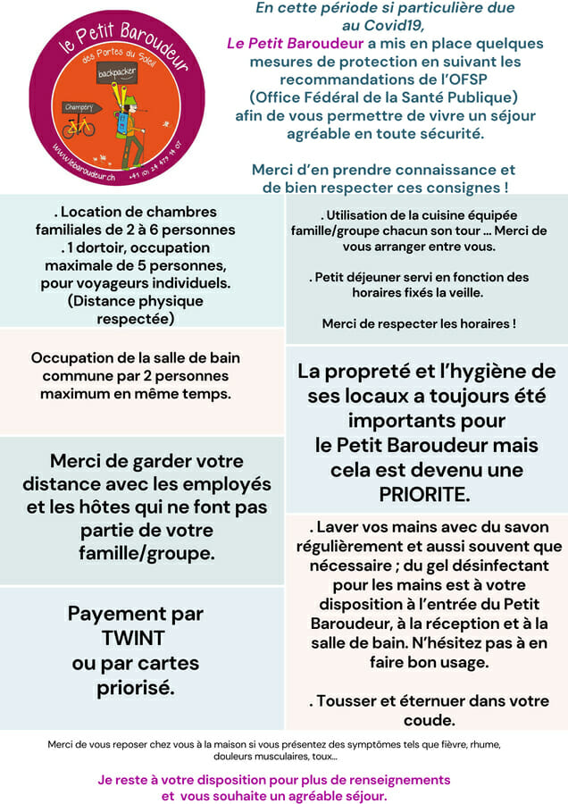 Actions du Petit Baroudeur _ Covid Clean and Safe